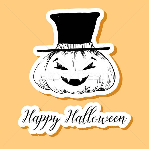 наклейку счастливым Хэллоуин текстуры стороны Сток-фото © Arkadivna