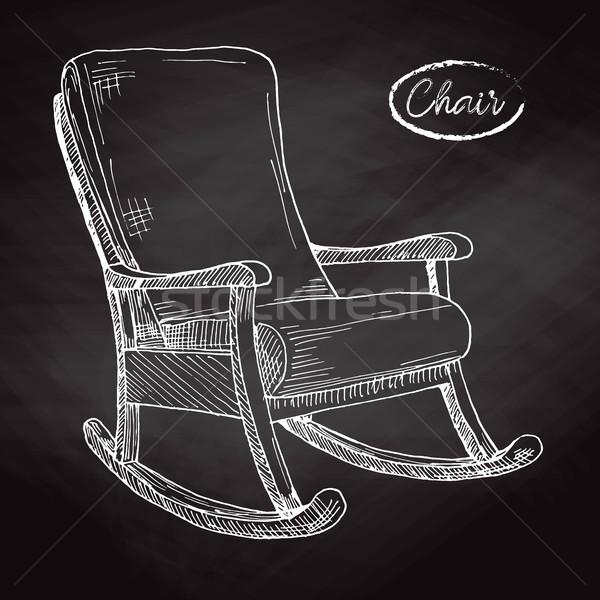 Mecedora boceto cómodo silla casa relajarse Foto stock © Arkadivna