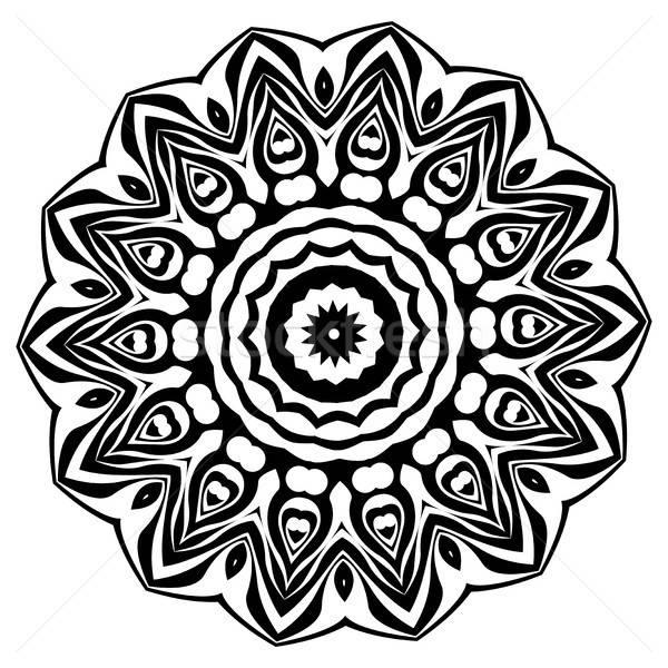 Mandala ethniques décoratif vintage Photo stock © Arkadivna