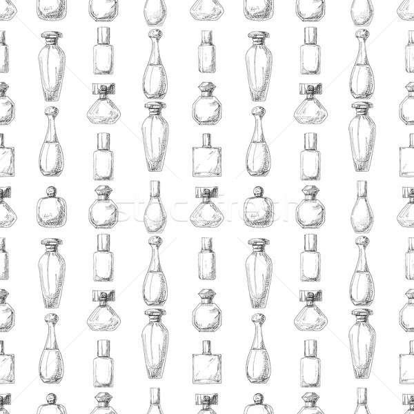 Stok fotoğraf: Parfüm · şişeler · örnek · kroki · stil