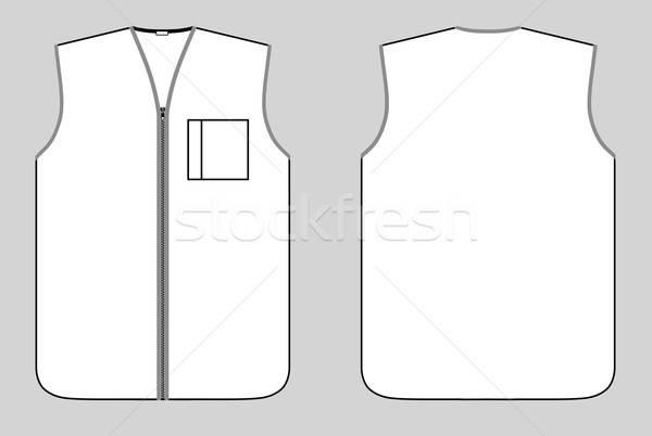Worker waistcoat with zipper and pocket  Stock photo © arlatis