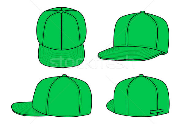 Green rap cap (vector) isolated on white background Stock photo © arlatis