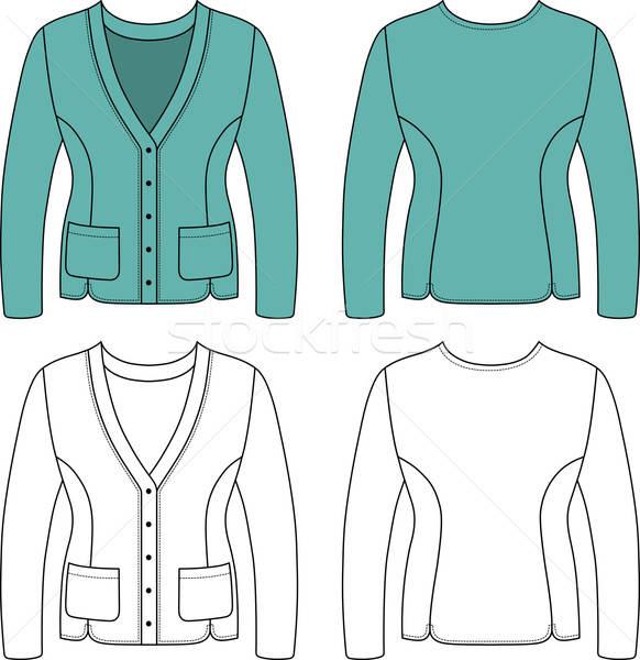 テンプレート 実例 女性 ジャケット ファッション ストックフォト © arlatis