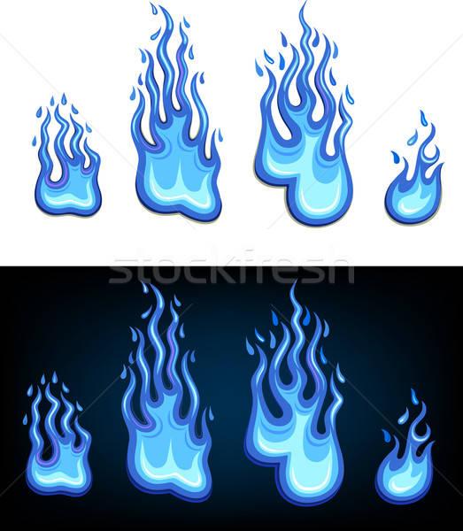 ガス 青 難 セット 孤立した 白 ストックフォト © arlatis