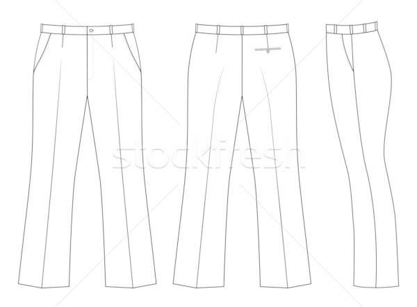 Outline black-white pants Stock photo © arlatis