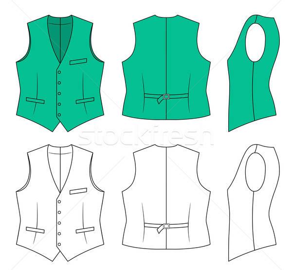 Man green waistcoat  Stock photo © arlatis