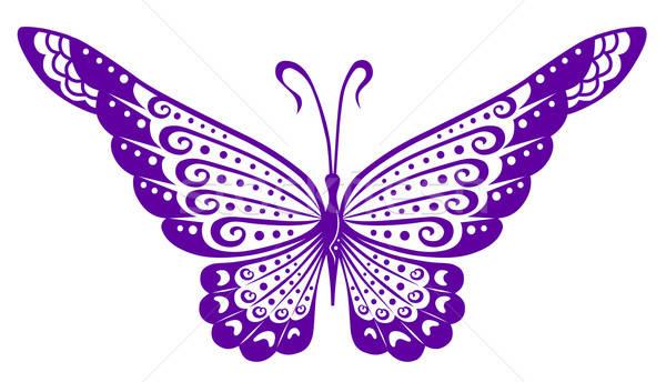 Artystyczny wzór Motyl tatuaż wiosną projektu Zdjęcia stock © arlatis