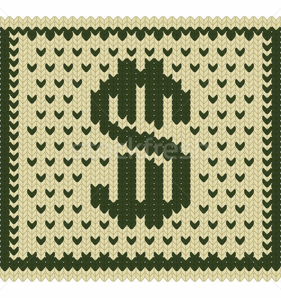 Knitted dollar scheme Stock photo © arlatis
