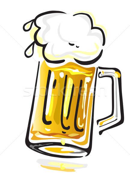 Beer  isolated on white background Stock photo © arlatis