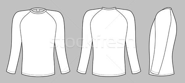 Rękaw tshirt odizolowany szary projektu mężczyzn Zdjęcia stock © arlatis