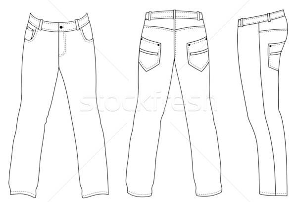 White man's jeans (front, back, side views)  Stock photo © arlatis