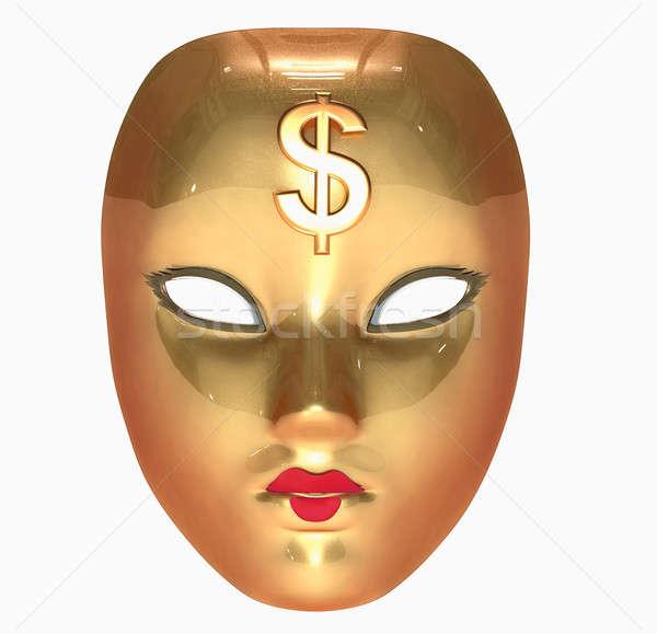 Golden mask  Stock photo © arlatis