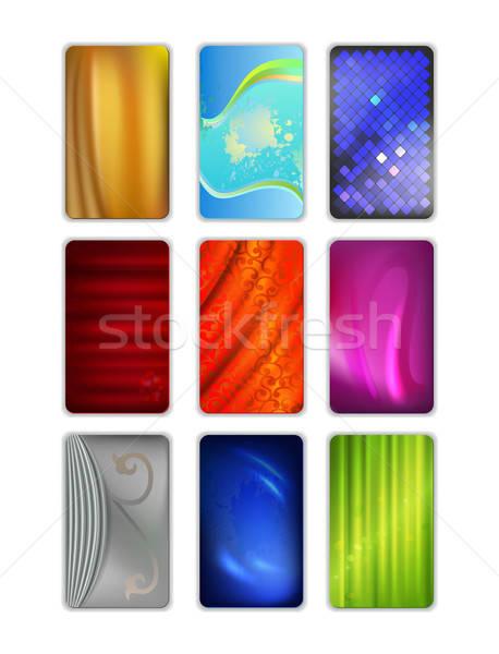 Ingesteld abstract gekleurd vector geïsoleerd witte Stockfoto © arlatis