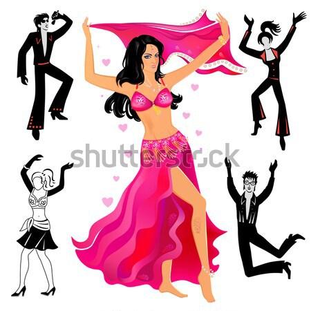Göbek dansçı yalıtılmış beyaz el parti Stok fotoğraf © arlatis