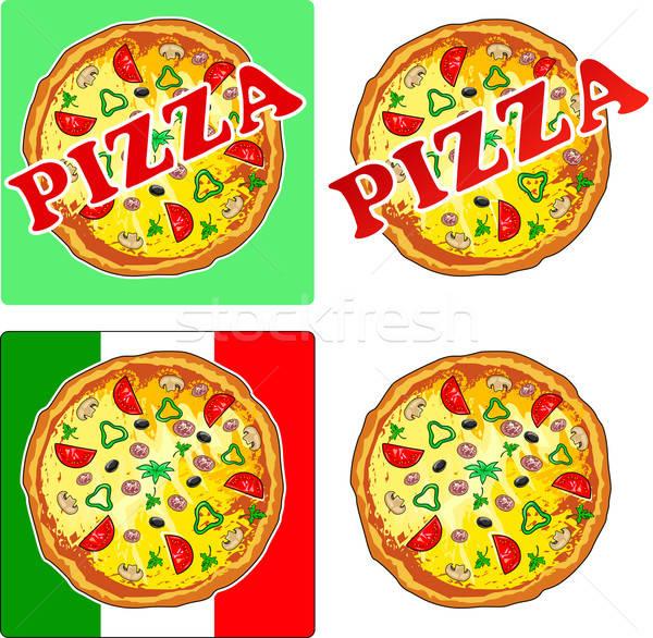 Zdjęcia stock: Pizza · odizolowany · restauracji · Kafejka · usługi · gotowania