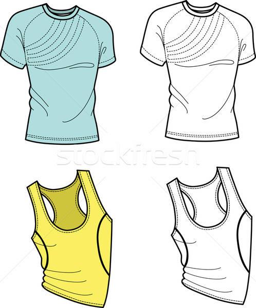 Tshirt Fußball Shirt Vorderseite Ansicht isoliert Stock foto © arlatis