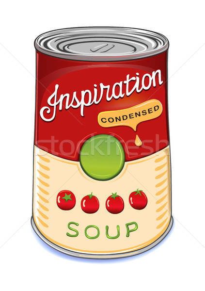 Can of condensed tomato soup Inspiration Stock photo © arlatis