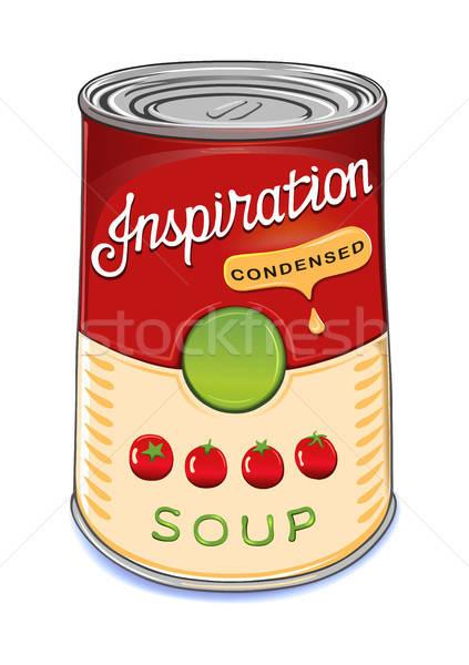 Puszka zupa pomidorowa inspiracja odizolowany biały ilustrator Zdjęcia stock © arlatis