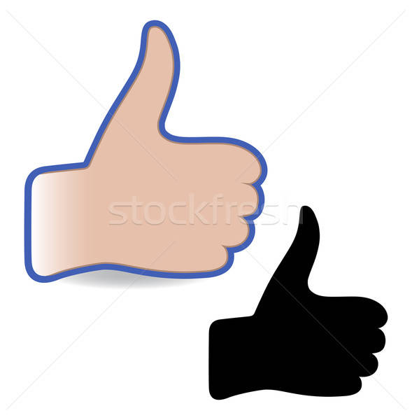 Like social networks thumb up hand sign button Stock photo © arlatis