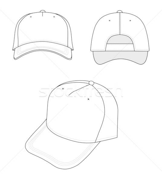 Cap isoliert weiß Design Hintergrund Sport Stock foto © arlatis