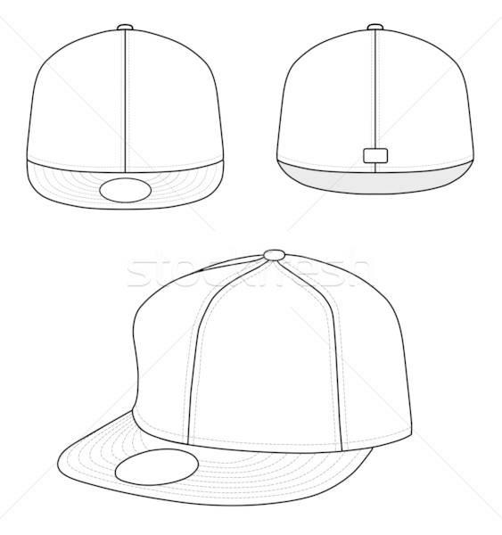 Rap cap schets geïsoleerd witte ontwerp Stockfoto © arlatis