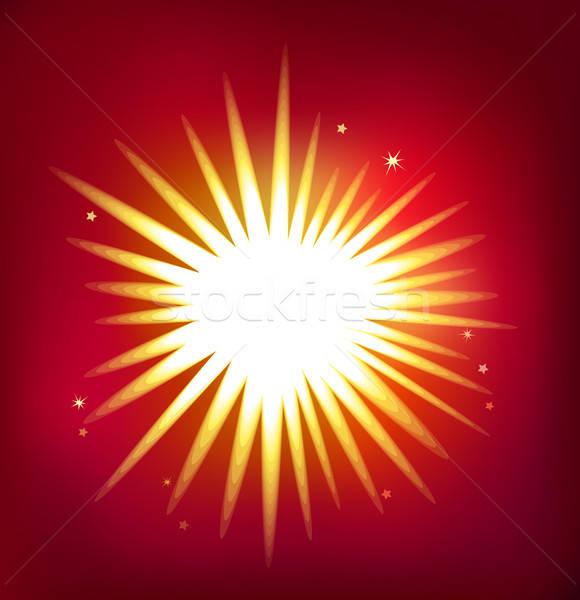 Parlak vektör star yalıtılmış kırmızı ressam Stok fotoğraf © arlatis