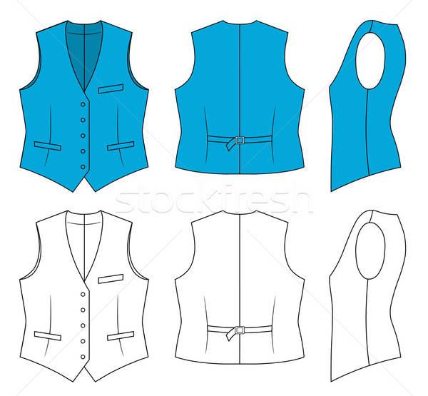 Woman blue waistcoat  Stock photo © arlatis