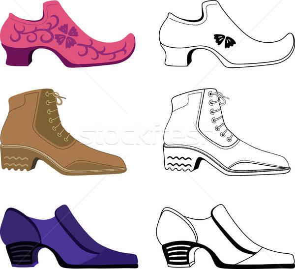 6 スタイリッシュ 男 靴 孤立した 白 ストックフォト © arlatis