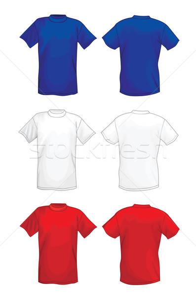 Tshirt dizayn şablonları moda alışveriş Stok fotoğraf © arlatis