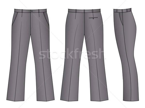 Gri pantolon yalıtılmış beyaz moda Stok fotoğraf © arlatis