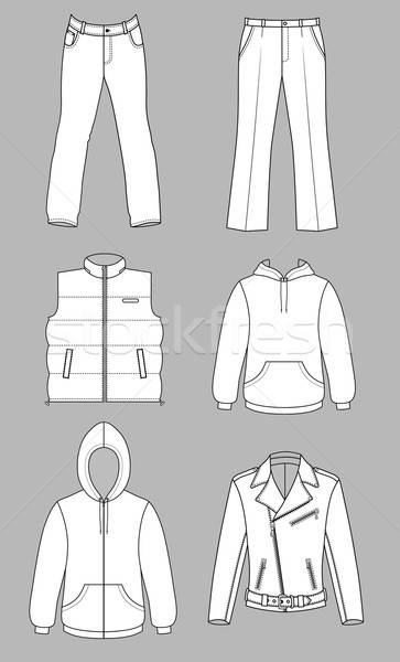 Man kleding najaar collectie geïsoleerd grijs Stockfoto © arlatis
