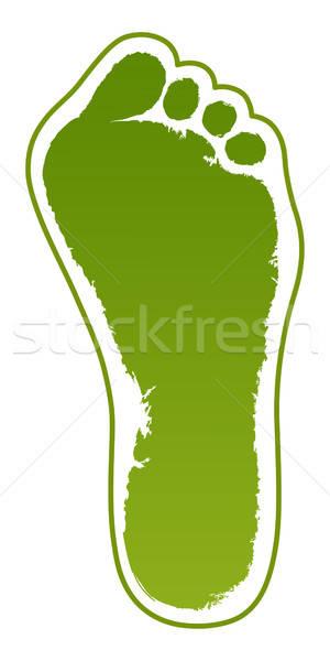 Old man green foot print Stock photo © arlatis