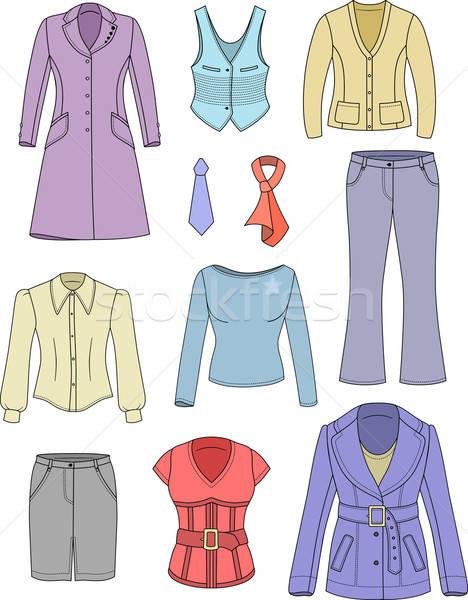 Felső menedzser nő ruházat gyűjtemény ruházat Stock fotó © arlatis
