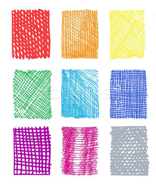 Artystyczny kolorowy wzorców odizolowany biały sztuki Zdjęcia stock © arlatis