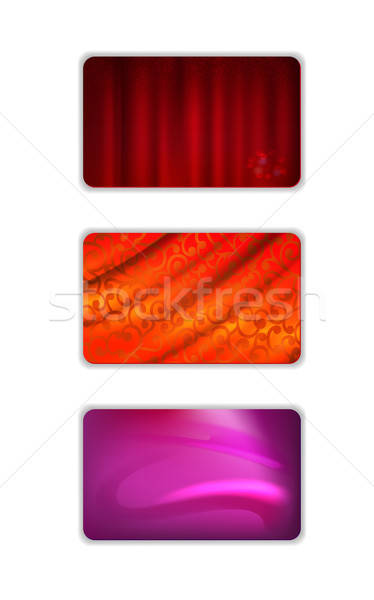 Set abstract red tones drapery background Stock photo © arlatis