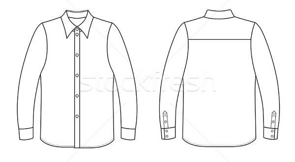Outline black-white shirt vector illustration isolated on white  Stock photo © arlatis