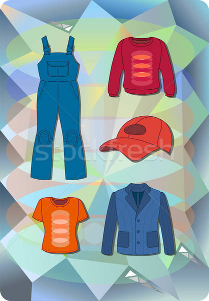 Worker, plumber man, woman fashion set Stock photo © arlatis