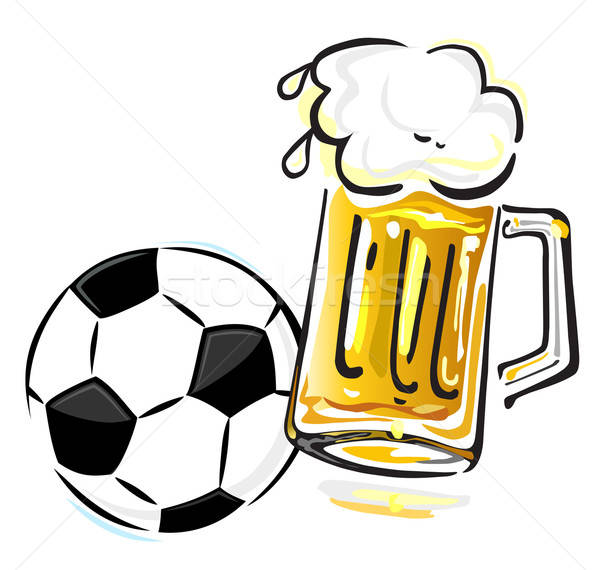 Stok fotoğraf: Futbol · topu · bira · yalıtılmış · beyaz · parti · ışık