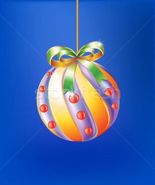 クリスマス デザイン 雪 冬 青 ボール ストックフォト © arlatis