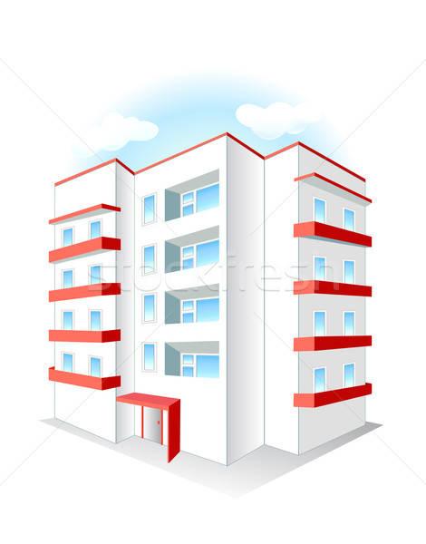 Gebouw witte stad bouw ontwerp home Stockfoto © arlatis