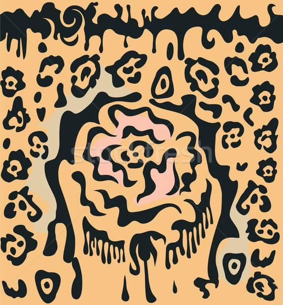 Stieg Leoparden Flecken Ornament stilisierten Stock foto © arlatis