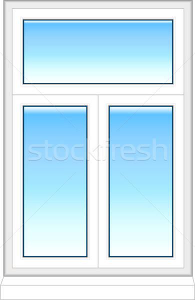 Stok fotoğraf: Plastik · pencere · renk · yalıtılmış · beyaz · inşaat