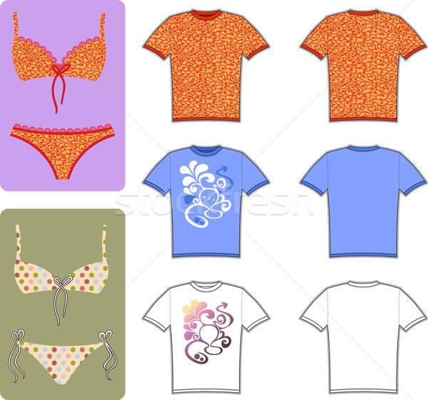 Badeanzug dekoriert Modell isoliert Vektor Stock foto © arlatis