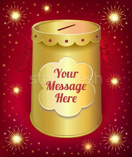 Szöveg sablon konzervdoboz konzerv izolált piros Stock fotó © arlatis