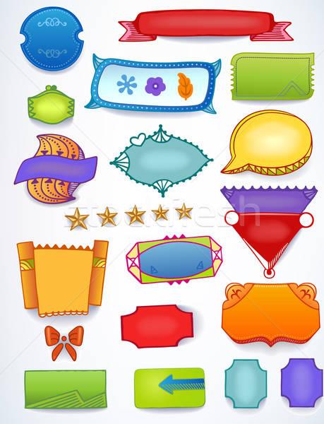 De vendas promoção conjunto espaço texto Foto stock © arlatis