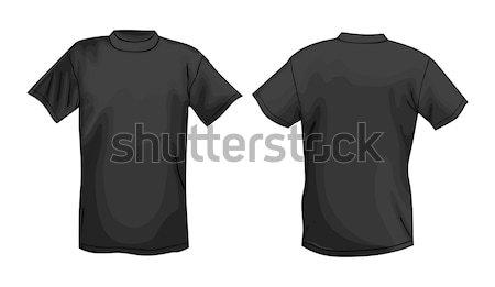 Zwarte vector tshirt ontwerpsjabloon ontwerp Stockfoto © arlatis
