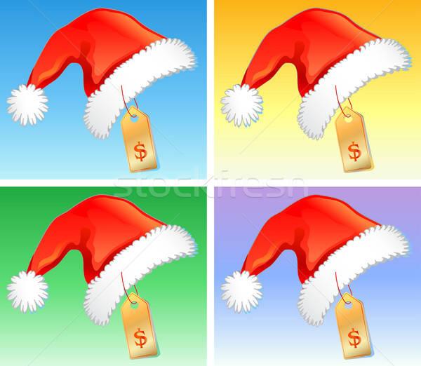 Stok fotoğraf: Kırmızı · Noel · fiyat · rozet · parti