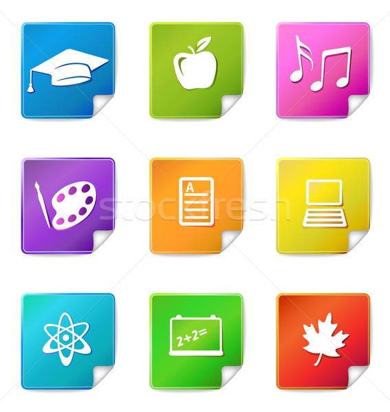 Education sticker icons  Stock photo © arlatis