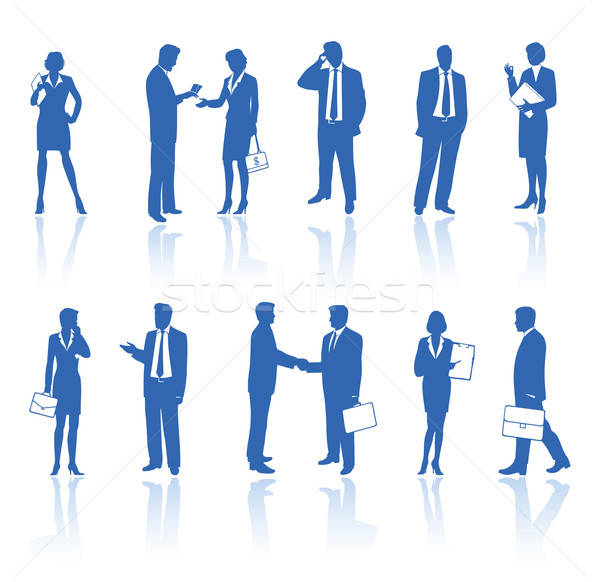 Business people silhouettes  Stock photo © arlatis