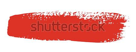 Red brush stroke isolated on white background  Stock photo © arlatis